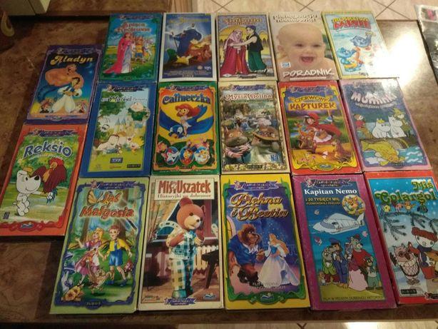Sprzedam kasety VHS z bajkami