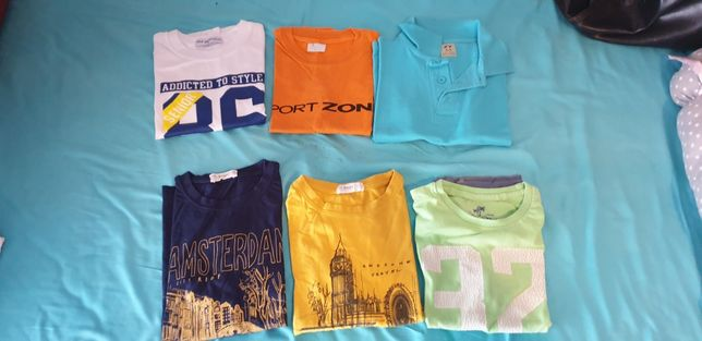 Lote t-shirts tam 6 anos