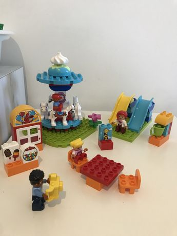 Lego  duplo парк аттракционов все детали
