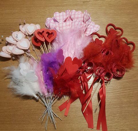 Ozdoby, dekoracje do kwiatów walentynki