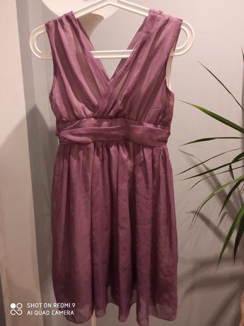Fioletowa zwiewna sukienka