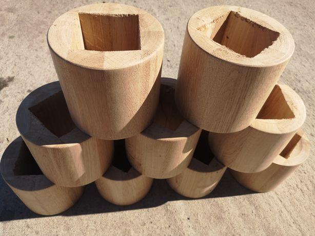 tuleja dystansowa drewniana schody dąb
