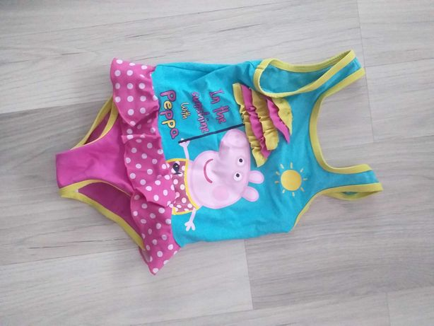 Strój kostium kąpielowy Świnka Peppa rozmiar 92 - 98