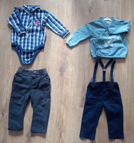 Marynarka, dżinsy, spodnie, koszule koszulobody rozmiar 80