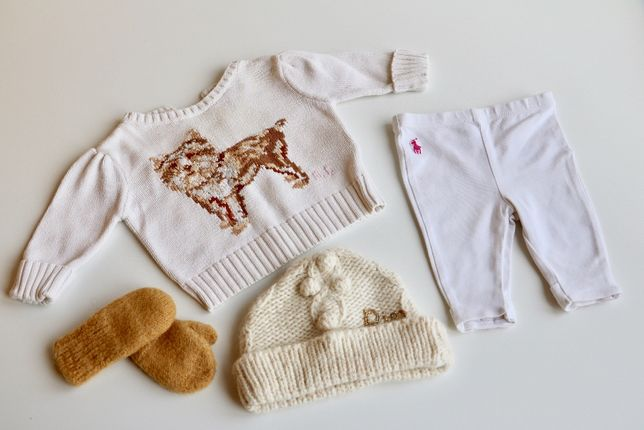 Набор брендовых вещей на девочку (0-6 мес) Ralph Lauren, baby DIOR
