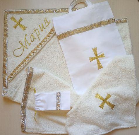 Крыжма махровая, комплект для крещения