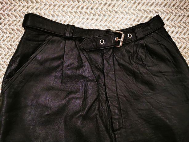 Damskie skórzane spodnie rozm. 36 / S