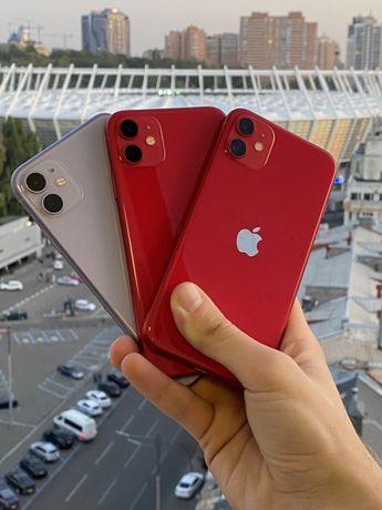 iPhone 11 Red 64/128gb! новый! Аккум 100%!Рассрочка!Гарантия 3м
