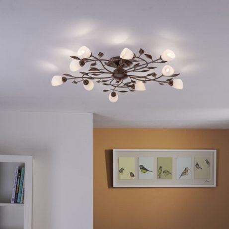 Dekoracyjna brązowa lampa sufitowa Paul Neuhaus 14290-4 SELLTEC OUTLE
