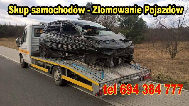 Skup Samochodów - Pomoc Drogowa 24h - Złomowanie - gotówka od ręki !