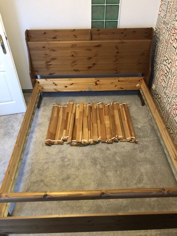 Drewniane łóżko 160x200 IKEA
