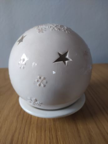 Ceramiczna kula bompka ozdoba na stół swiateczna