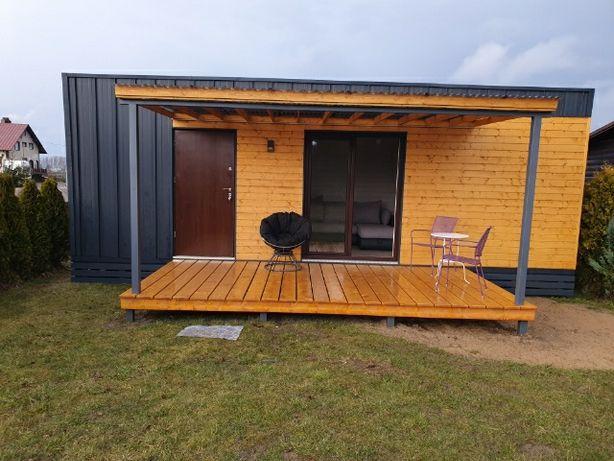 Domek drewniany mobilny