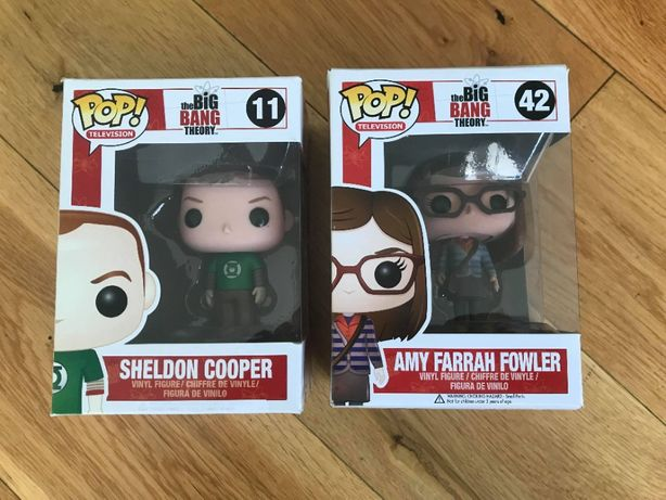Funko POP Sheldon I Amy Big Bang Theory 1 Seria Unikaty Figurki Vinyl