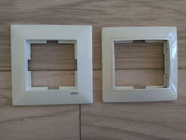 Рамки для розеток и выключателей VIKO (новые)(45 шт.), и другие (4 шт.