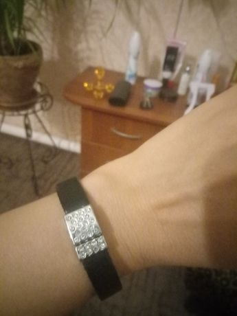 Кожаный браслет на магнитной застёжке.Обмен, 300 руб