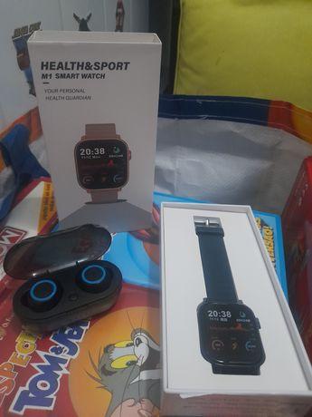 Smart watch + fones bluetooth NOVOS só 50€