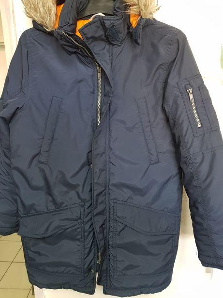 Kurtka płaszcz ocieplany r.158 H&M