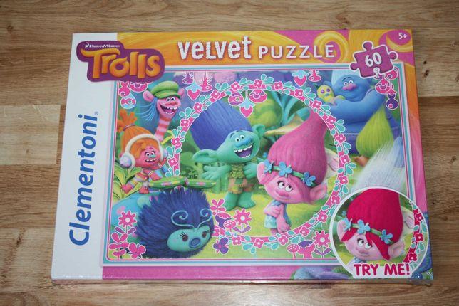 NOWE Clementoni Puzzle Velvet Trolle 60 el.