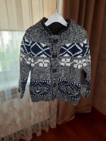 Детская одежда,  кофта утепленная Zara на мальчика