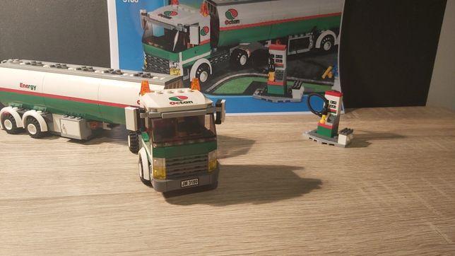 Klocki LEGO 3180 samochód ciężarowy, cysterna do paliwa i dystrybutor
