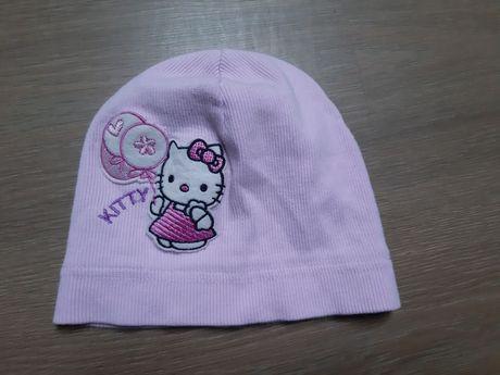 Różowa czapka dla dziewczynki Hello Kity