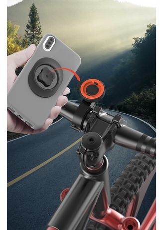 Suporte de fixação telemóvel para guiador mota ou bicicleta