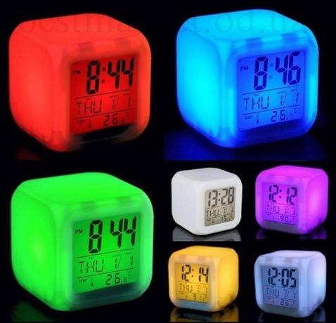 ночной светильник Часы Glowing Led Светящийся будильник термометр