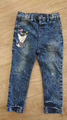 Jeansy dziecięce r. 92