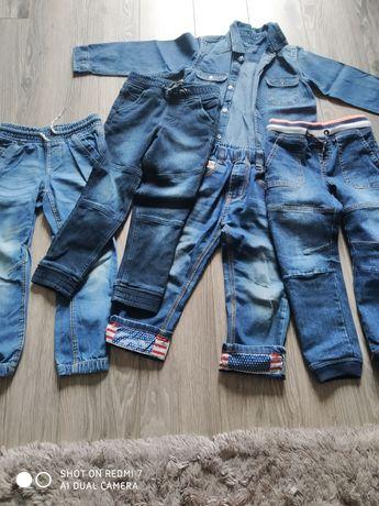 Spodnie jeansy 104 116