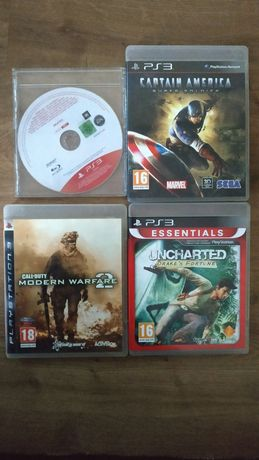 Zestaw gier PS3: Uncharted, Call of Duty MW2, Skate 3