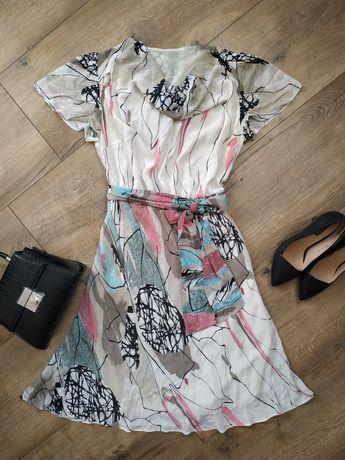 Красивое летнее шифоновое платье