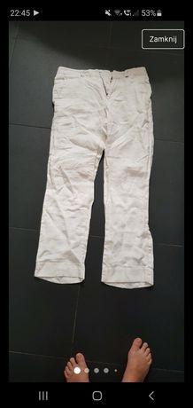 Spodnie Armani 29 męskie biały