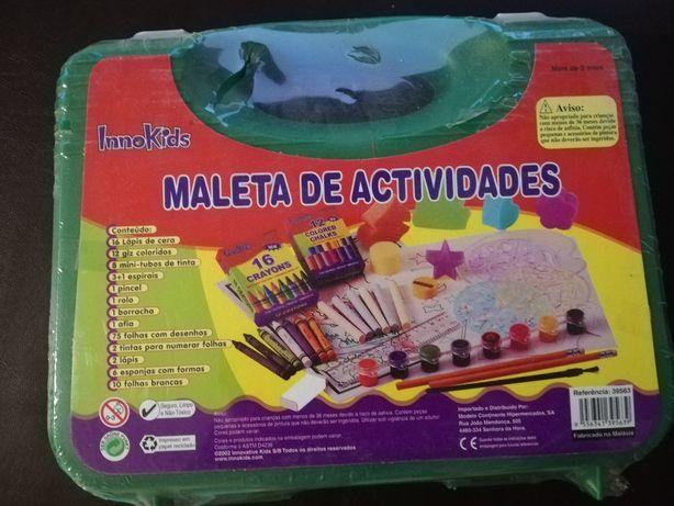 Material de pintura e telas