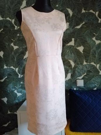 Sukienka midi łososiowa, firmowa