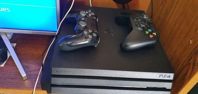 PS4 PRO novo modelo com fatura e garantia +extras jogos etc etc