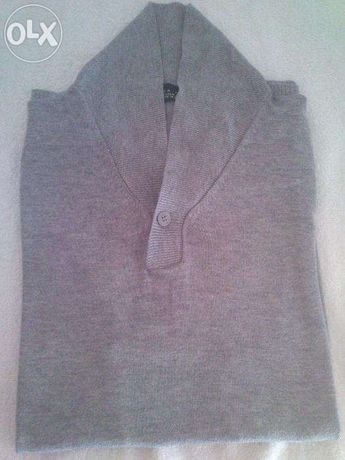Pólo cinza Zara - tamanho M
