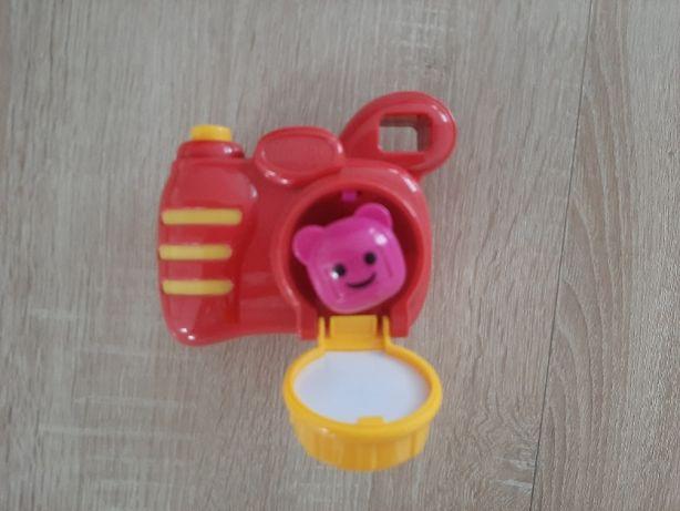 zabawki aparat, okularki telefon