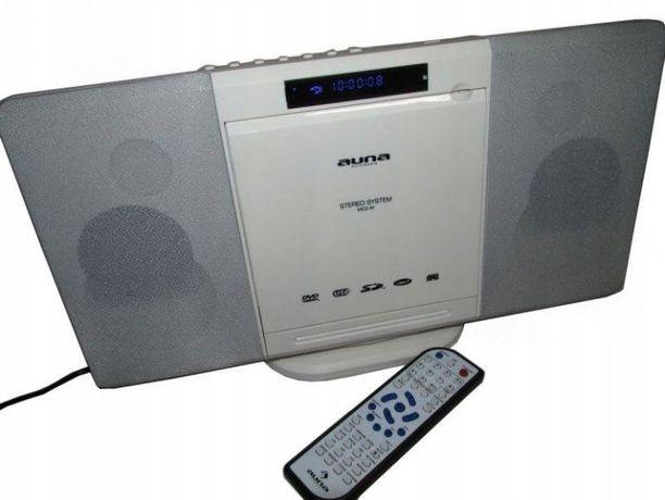 Radio Wieża Bluetooth CD DVD USB SD Pilot
