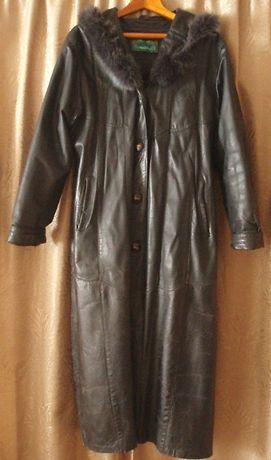 Кожаное пальто 48-50 размера