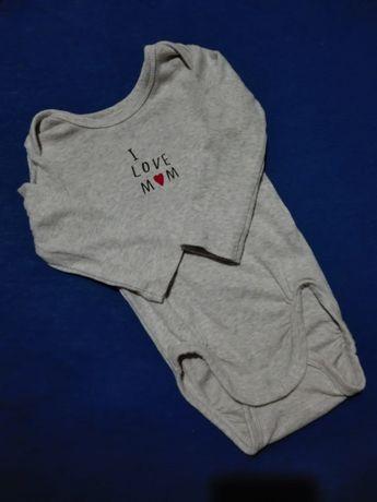 body H&M długi rękaw,I love mum,rozmiar 62