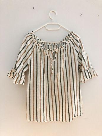 Bawełniana boho koszula bluzka vintage 36