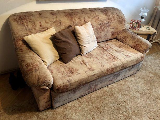 Komplet rozkladana sofa i 2 fotele