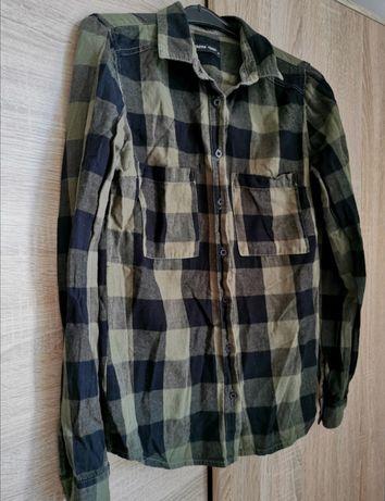 Zielona koszula w kratę Cropp