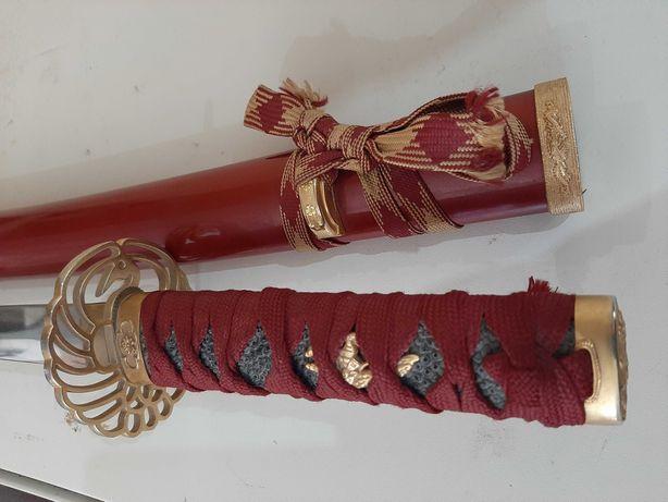 Miecz samurajski, stary, replika, dekoracja