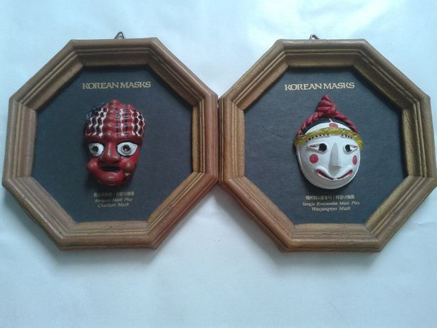 Koreanskie maski w pieknych ramkach