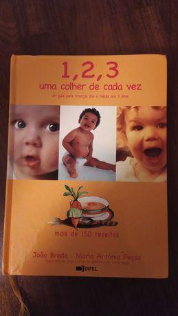 1,2,3 uma colher de cada vez -150 receitas Joâo Breda, Maria Peças