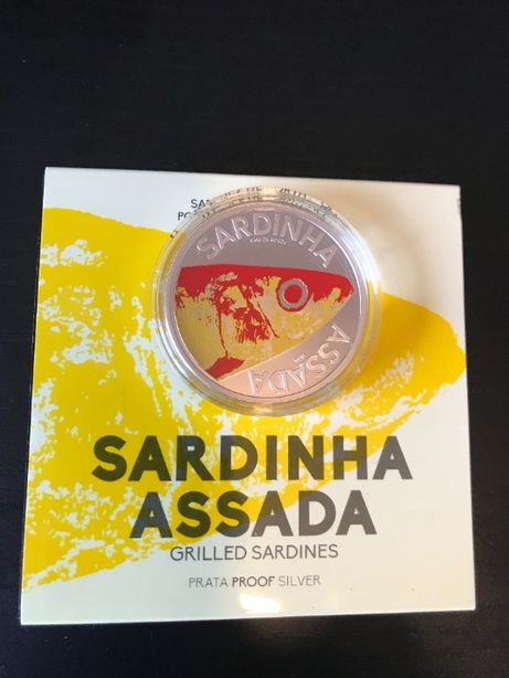 """Moeda de 10€ """"Sardinha Assada"""" Prata Prof"""