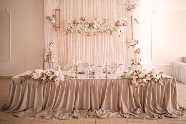 Wypożyczalnia dekoracji ślubnych, ścianka ślub/wesele,podtalerze