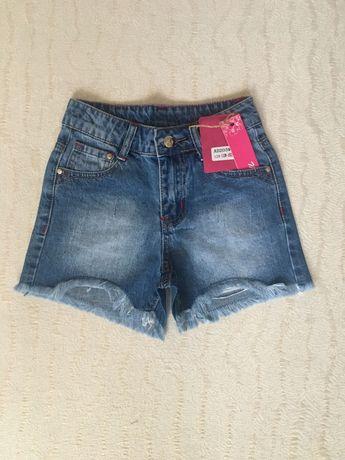 Джинсовые шорты на девочку/дівчинку/подросток/підліток, рост 128-152